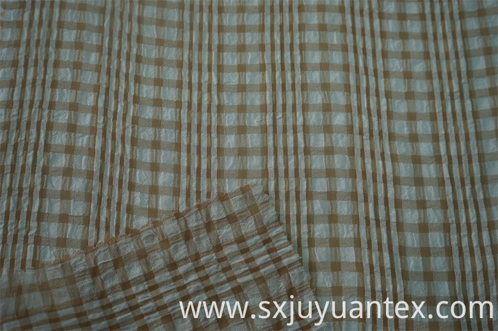 Polyester Multi Color Check Fabric