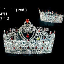 Beauty Pageant Full Round Rhinestone Crown