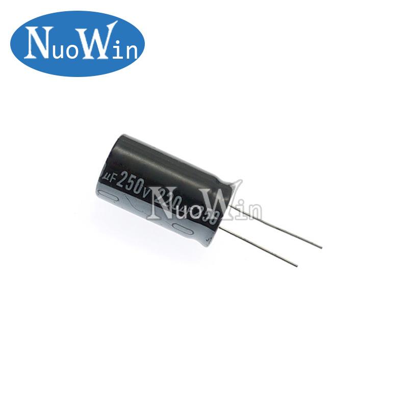 5pcs 250V Aluminum Electrolytic Capacitor 1UF 2.2UF 3.3UF 4.7UF 10UF 22UF 33UF 47UF 100UF 220UF 330UF