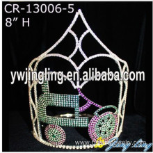 Rhinestone Beauty Custom Car Pageant Crowns And Tiaras