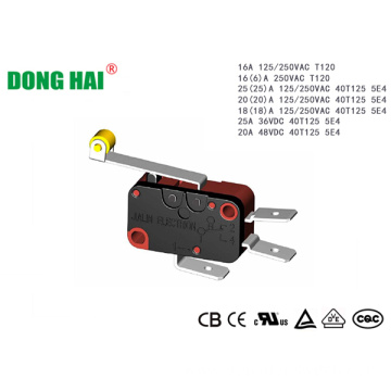 Micro Switch Long Metal Hinge Roller Lever Arm