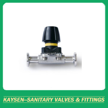 DIN Hygienic Mini manual diaphragm valves clamp end