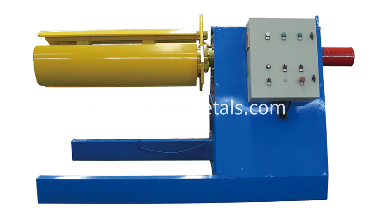 6 tons hydraulic decoiler