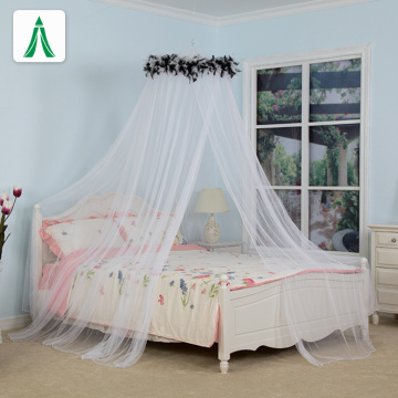 Bed Canopy with Black Feather Foldable