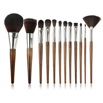 Syntetisk hår Makeup Brush Set med trähandtag