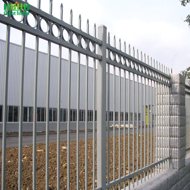 Steel Welded Picket Bar Safety Palisade Garden Fence