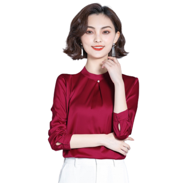 Womens Fashion Casual Long-sleeved Lace Shirts