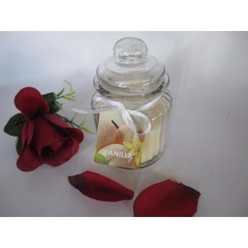 Scented Ivory Color Glass Jar Candle