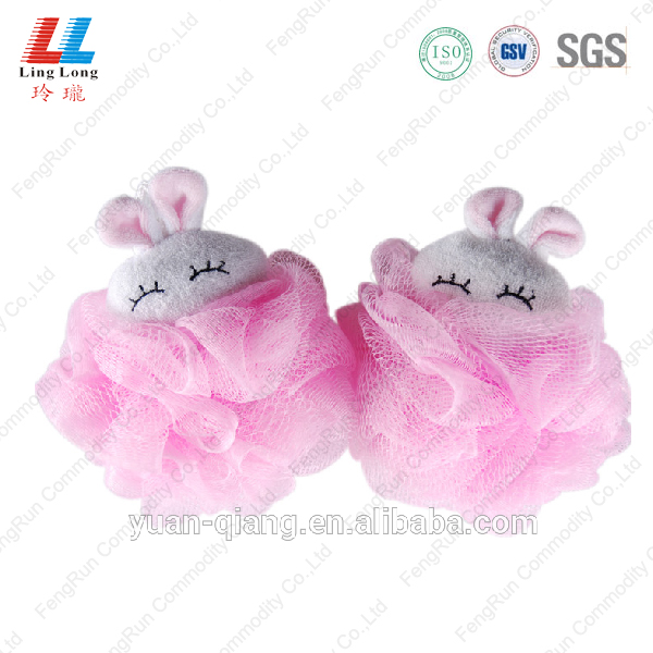 lovely rabbit style mesh sponge ball