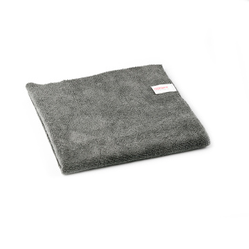 16x16In Edgeless Microfiber Car Cleaning Drying Towel Grey