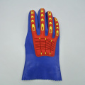 Blue PVC gloves with TPR