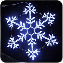 LED decoración impermeable gran luz de copo de nieve