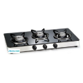 Glass Gas Stove 3 Alloy Burners