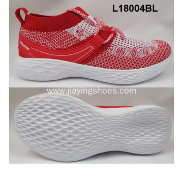flyknit fabric and sneaker women sport shoes