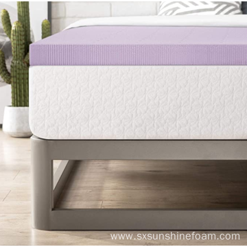 "2.5"" Lavender Infused Memory Foam Topper Queen"