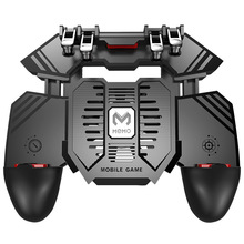 Mobile Phone Cooler For PUBG Controller Six Finger Game Trigger Shooter Joystick Gamepad Semiconductor Cooling Fan Triggers