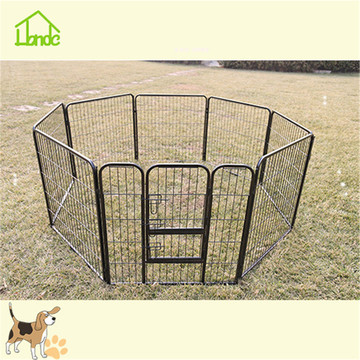 Convenient assembly of large square tube dog fence