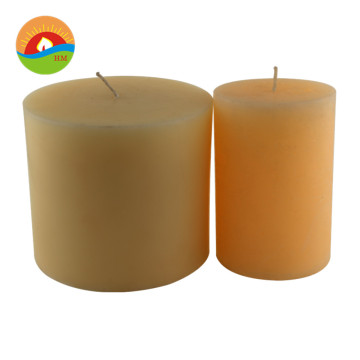 decorative pillar natural soy wax cotton wick candle