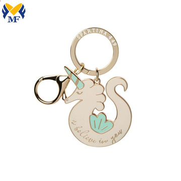 Fashion Die Cast Custom Metal Keychain With Logo