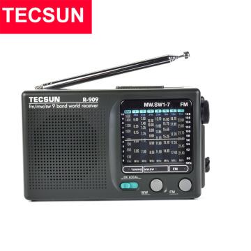 TECSUN R-909 AM/FM/SW Radio 1-7 9 Bands World Band Receiver Portable Radio FM: 87.0-108MHz/ŸMW: 525-1610 kHz Retro Pocket Radio