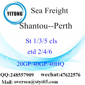 Shantou Port Sea Freight Shipping To Perth