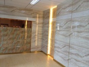 Wall decorative UV marbling panel and decoration sheet