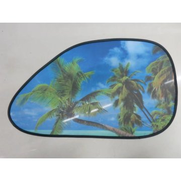 Foldable static car black meshside windshield sunshade