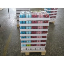 4 Pieces Packed Tray Packed Colored Pillar Candles