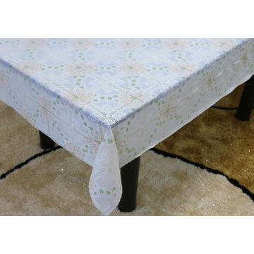 Printed pvc lace tablecloth by roll oilcloth