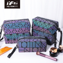 Custom geometric design noctilucent PU hand bag