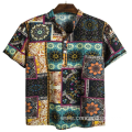 Mens beach wear printd holid shirt