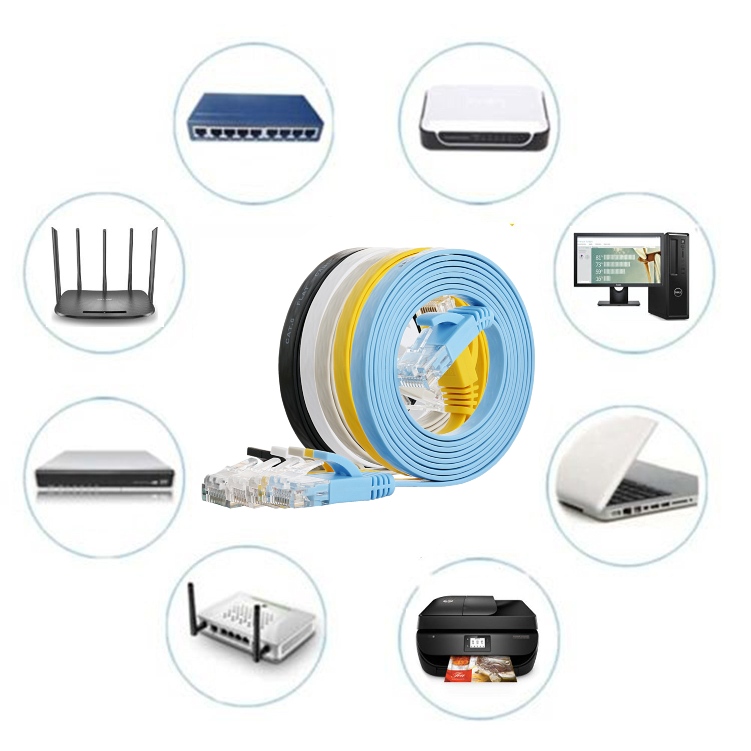 Cat5e Flat Cable Application