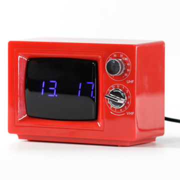 Red Digital TV Alarm Table Clocks