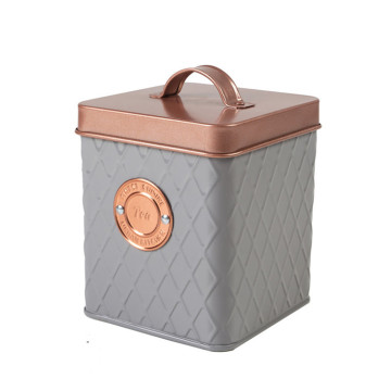 Vintage copper&grey canister set 3