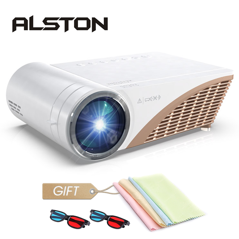 ALSTON S6P Support 1080P Led projector 4000 Lumens HDMI USB VGA AV portable cinema Proyector Beamer with gift