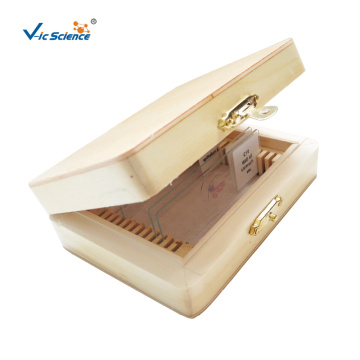 Customizable Wooden Microscope Slide Box