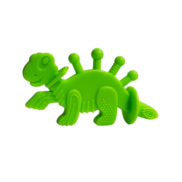Custom Dinosaur Baby Teether Toy Training Toothbrush