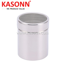 Stainless Steel Powdered Sugar Shaker with Mesh Lid