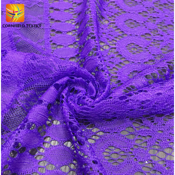 Factory graceful dyed lace fabric for cloth
