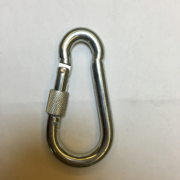10MM Carabiner Snap Hook With Screw For Climbing
