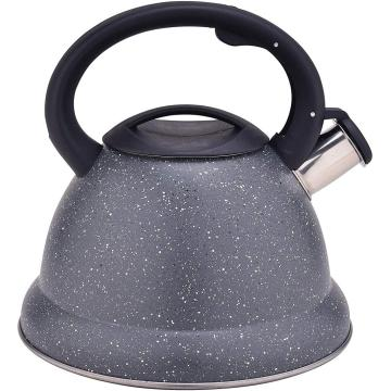 Grey Durable Color Stainless Steel Whistling stovetop Teapot