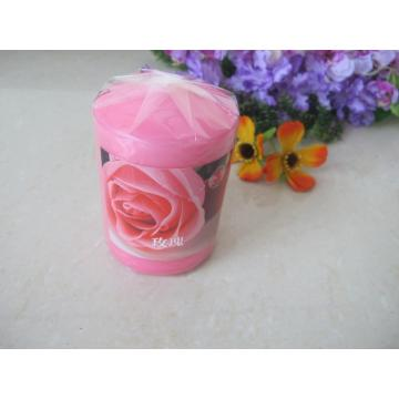 Scented Pink Colour Pillar Candle