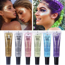 6 Colors Holographic Lip Flash Nail Decoration Tattoo Sequins Eye Makeup Eyeshadow Shimmer Body Glitter Gel Tattoo Sequins