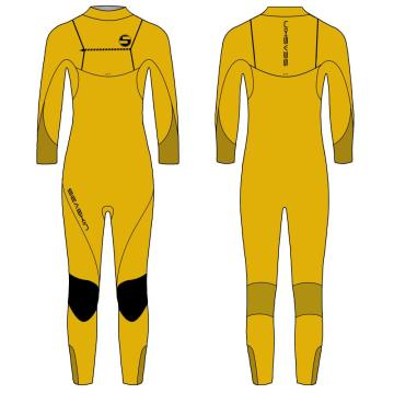 Seaskin Boys Chest Zip Surfing Wetsuit