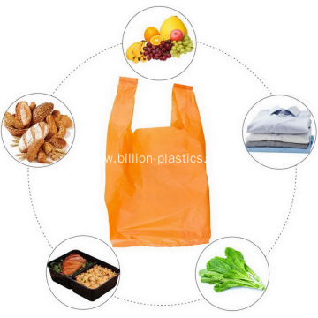 Large Plastic Grocery T-shirts Carry-out Bag