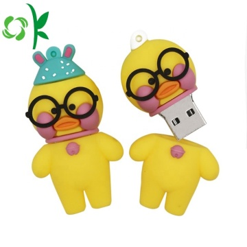 Cartoon Cute Duck Cover Silicone U Disk Case