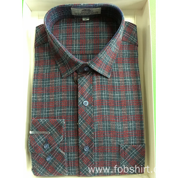 Long Sleeve Cotton Check Shirt