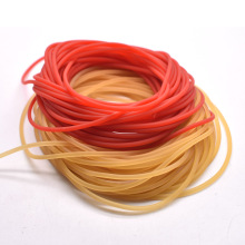 10 Meters Diameter 2mm Solid Elastic Rubber Line High Quality Natural Clolor And Red Color Fishing Rope