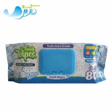 80pcs Cleansing Fragrance Free Baby Wet Wipes