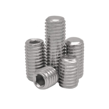 Hexagon socket set screws flat piont
